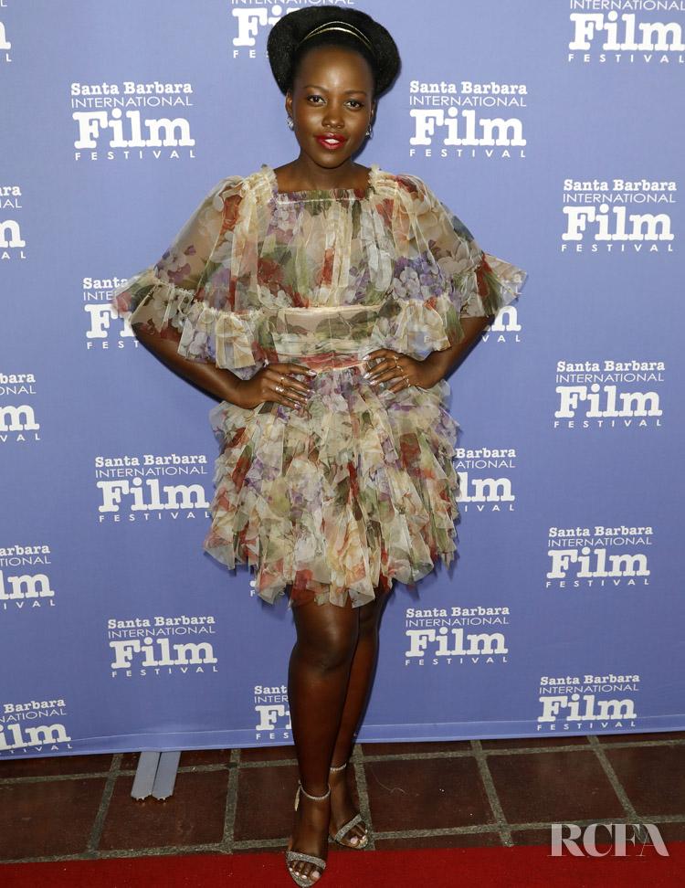 Lupita Nyong'o Wore Dolce & Gabbana To The Santa Barbara International Film Festival - Montecito Award