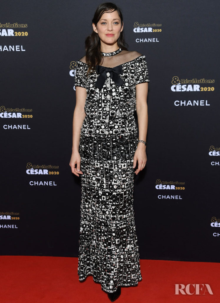 Marion Cotillard Wore Chanel Haute Couture To The Cesar Revelations 2020 Dinner