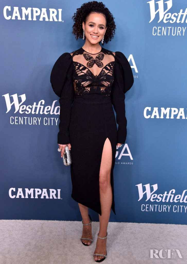 Nathalie Emmanuel in David Koma 2020 Costume Designers Guild Awards
