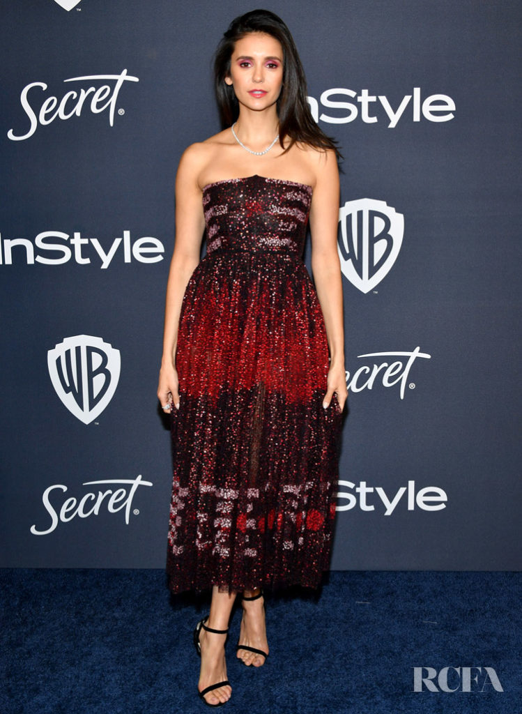 Nina Dobrev Wore Christian Dior To The InStyle Golden Globe After Party