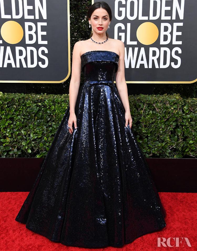 Ana De Armas In Ralph & Russo - 2020 Golden Globe Awards