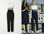 Scarlett Johansson's David Koma Two-Tone Jumpsuit
