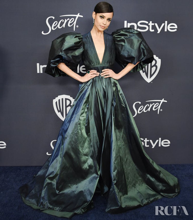 Sofia Carson Wore Elie Saab To The InStyle Golden Globe After Party