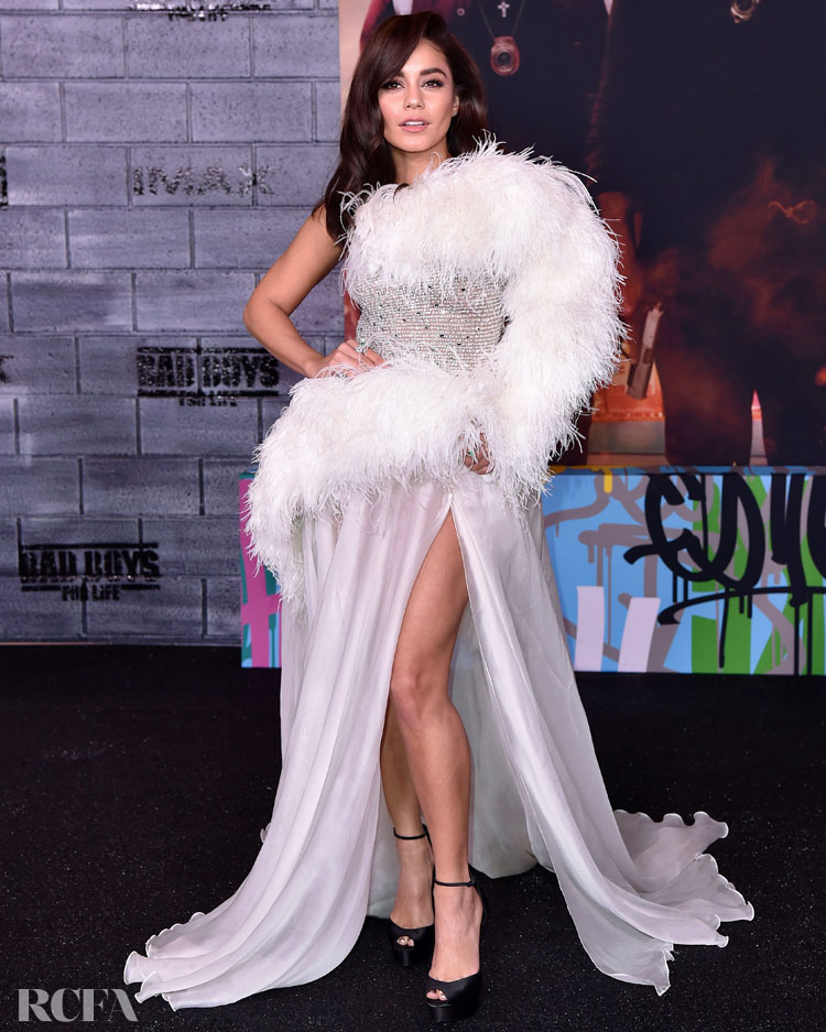 Vanessa Hudgens Wore Georges Hobeika Couture To The 'Bad Boys For Life' LA Premiere