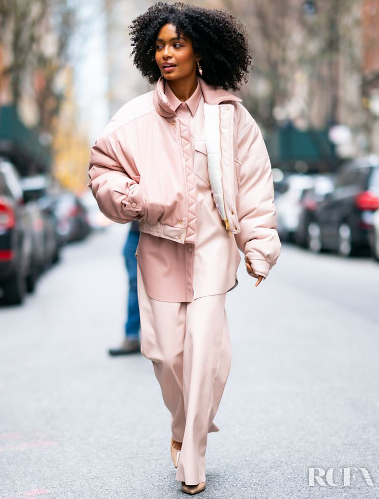 Yara Shahidi Wore Nanushka For  The Tamron Hall Show