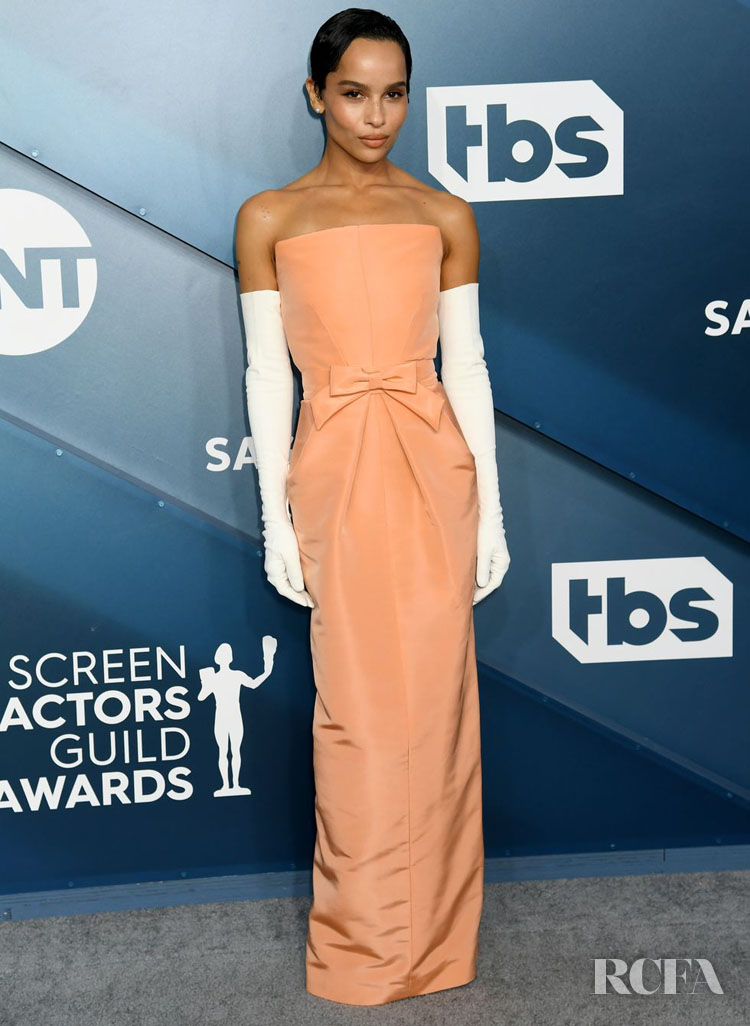 Zoë Kravitz In Oscar de la Renta - 2020 SAG Awards