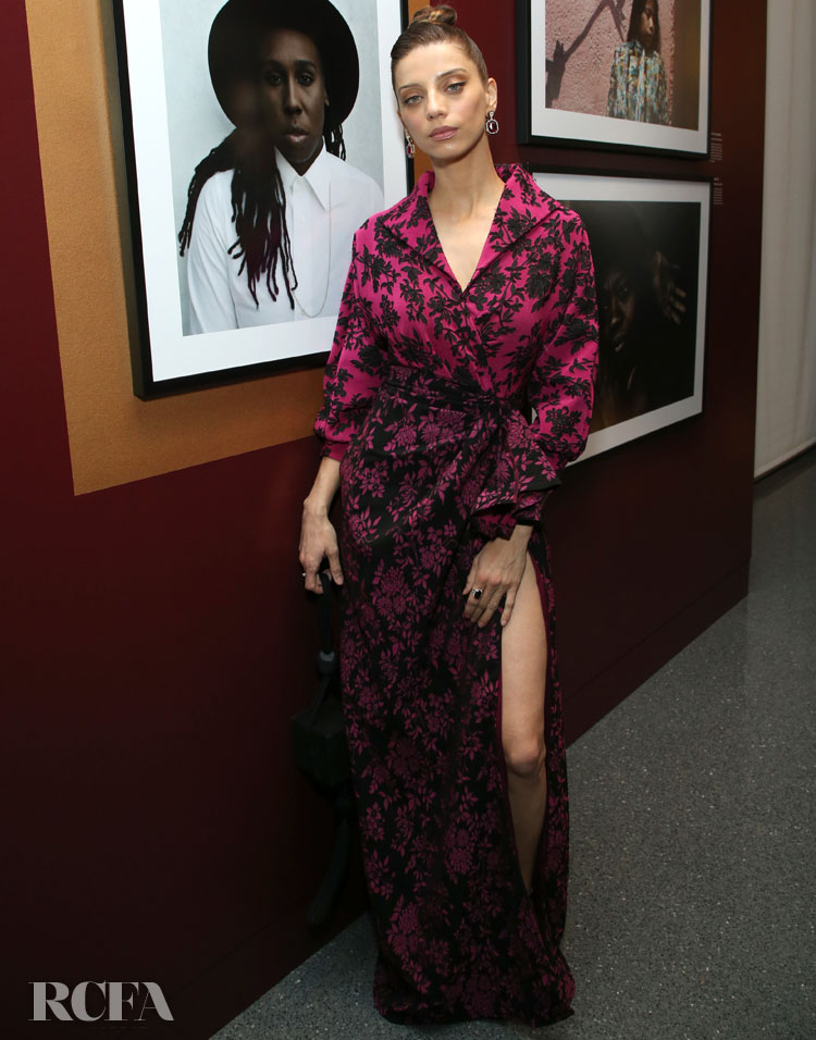 Angela Sarafyan Wore Tadashi Shoji To The Opening Of Vanity Fair: Hollywood Calling
