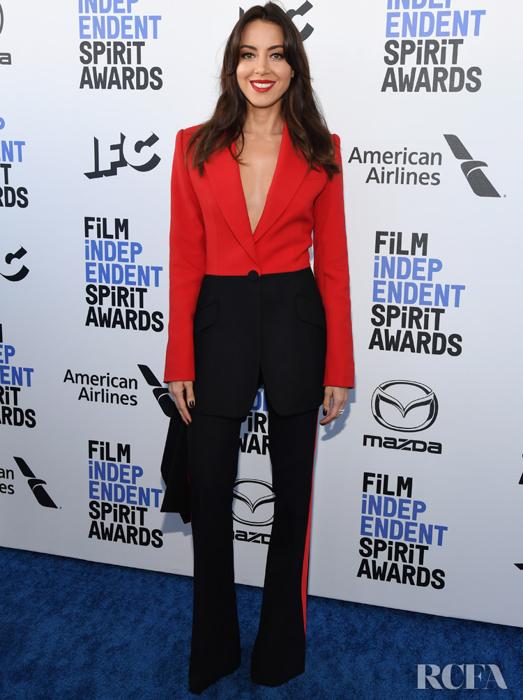 Aubrey Plaza In Alexander McQueen - 2020 Film Independent Spirit Awards