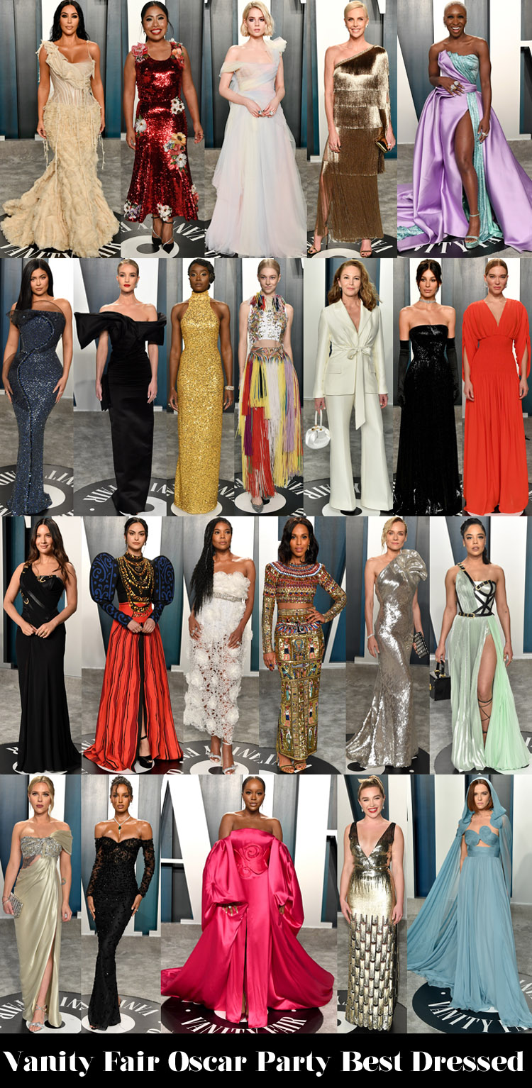 Vanity Fair Oscar Party Red Carpet Fashion Awards