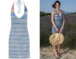 Bruna Marquezine's Jacquemus Striped Halterneck Knit Mini Dress