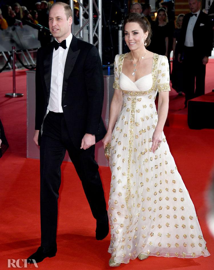 Catherine, Duchess of Cambridge In Alexander McQueen - 2020 BAFTAs