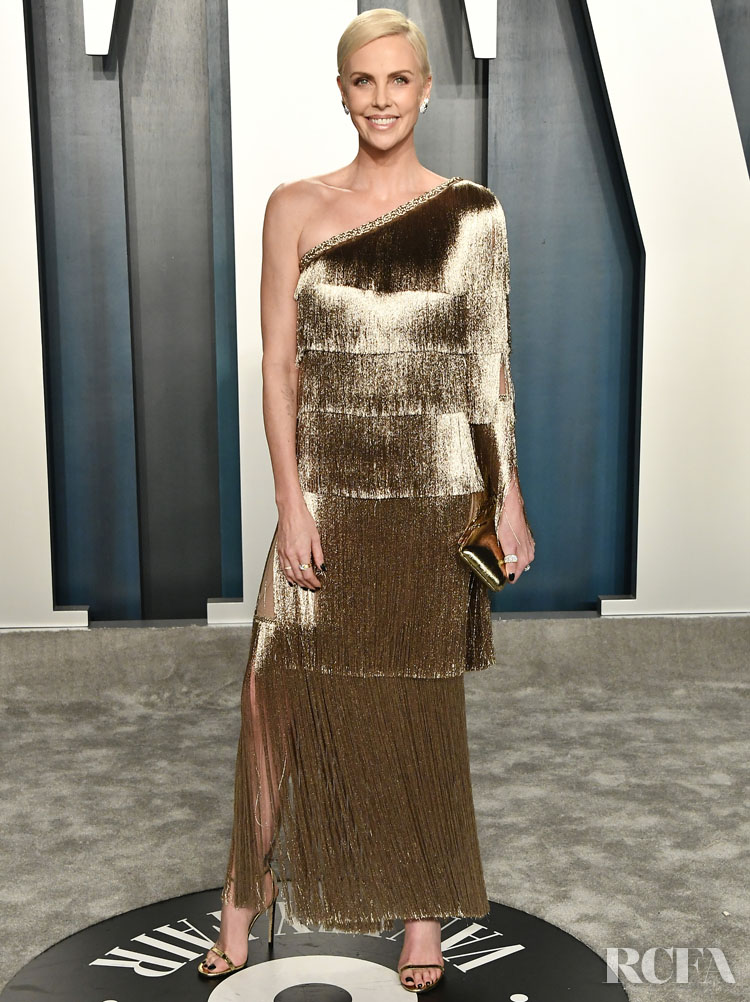 Charlize Theron in Christian Dior The 2020 Vanity Fair Oscar Party