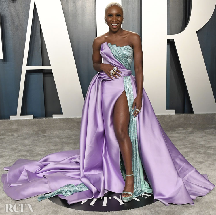 Cynthia Erivo in Atelier Versace - 020 Vanity Fair Oscar Party
