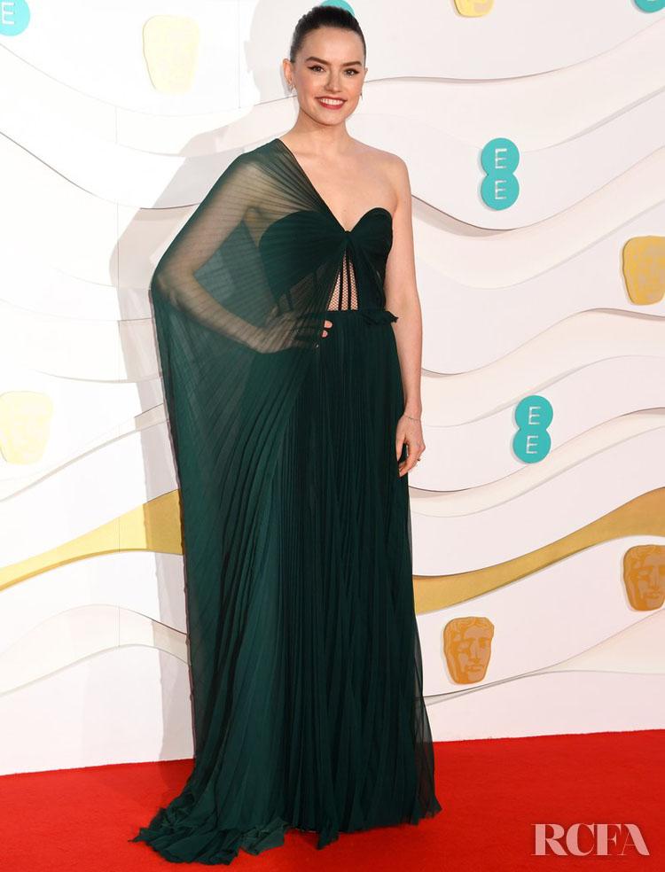 Daisy Ridley In Oscar de la  Renta - 2020 BAFTAs