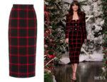 Dakota Johnson's Alessandra Rich Checked Tweed Skirt
