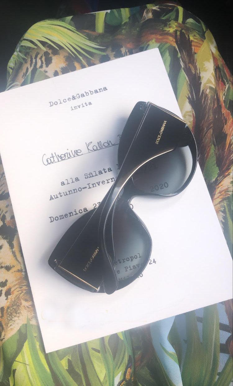 Me @ Dolce & Gabbana Fall 2020
