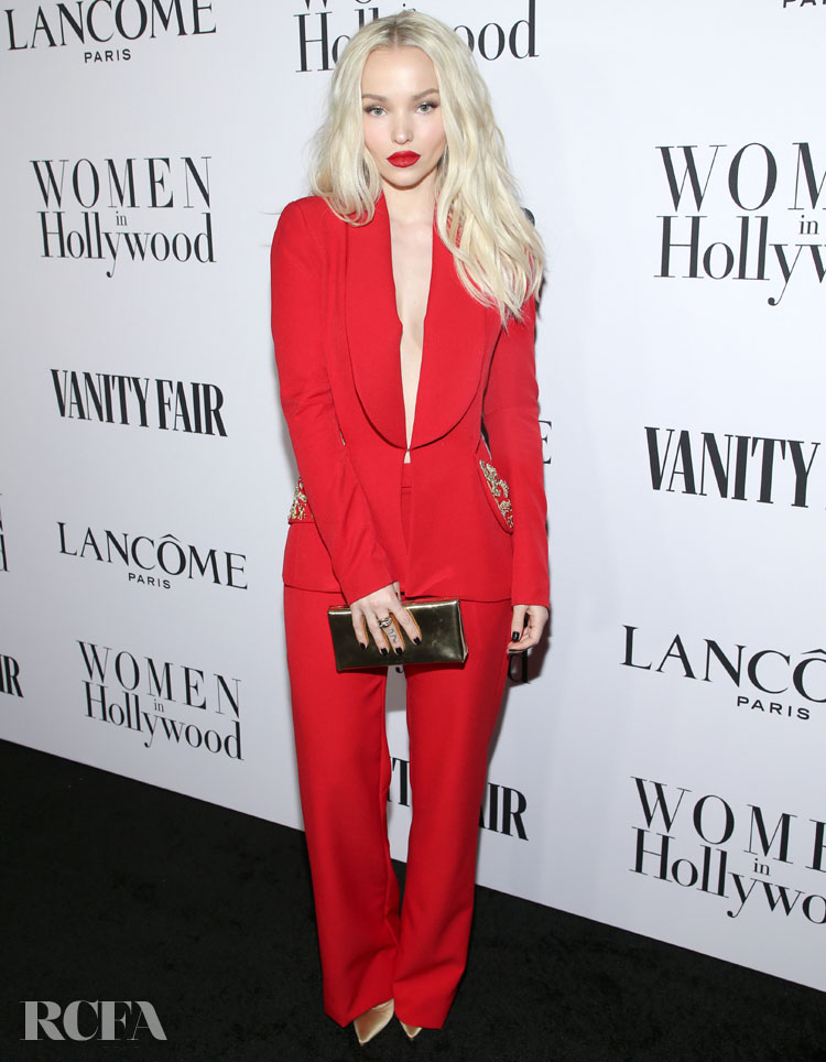 Dove Cameron Wore Honayda To The Vanity Fair And Lancôme Toast Women In Hollywood Event