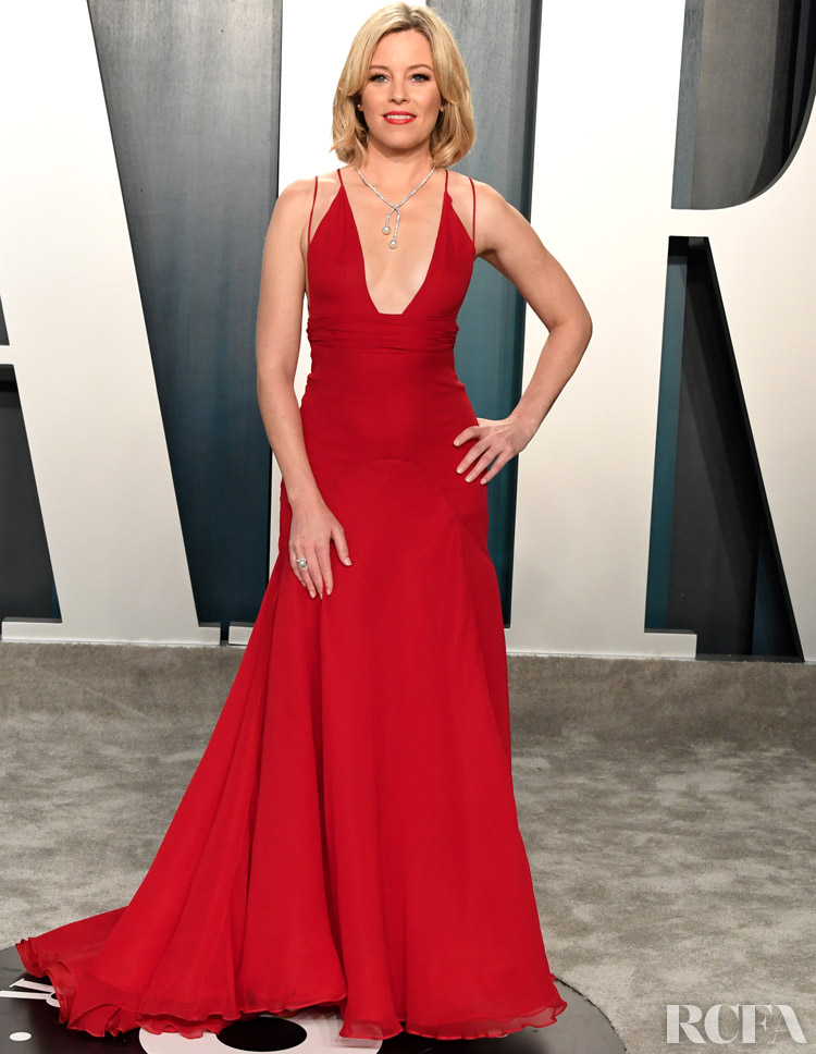 Elizabeth Banks Badgley Mischka The 2020 Vanity Fair Oscar Party