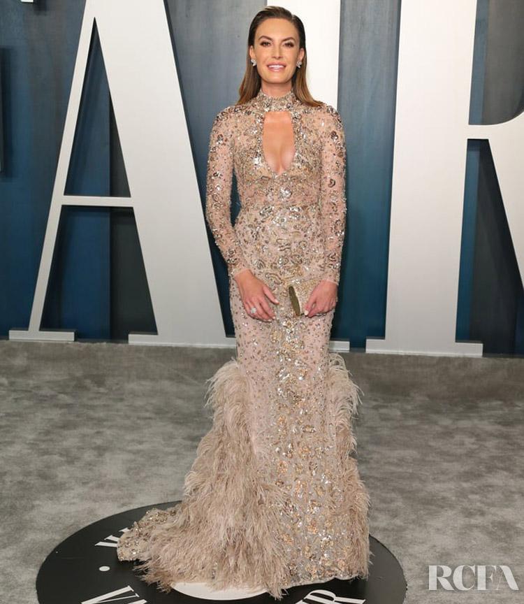 Elizabeth Chambers  in Zuhair Murad 2020 Vanity Fair Oscar Party