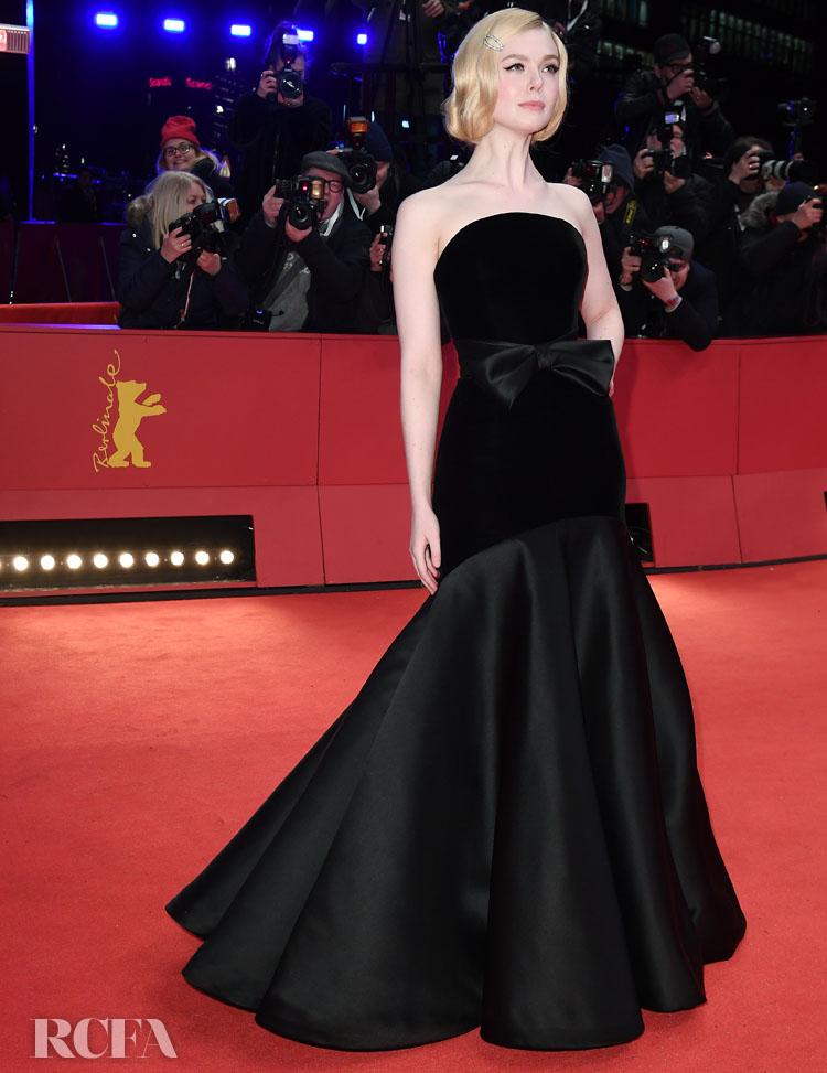 Elle Fanning Wore Armani Prive To 'The Roads Not Taken' Berlinale Film Festival Premiere