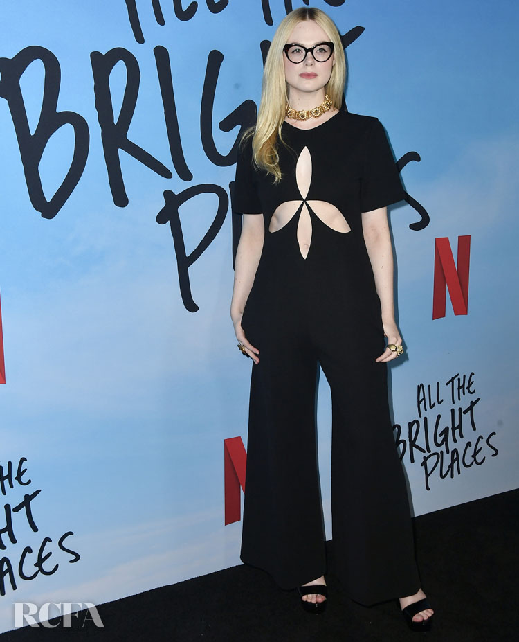 Elle Fanning Wore Gucci To The Special Screening Of Netflix's 'All The Bright Places'