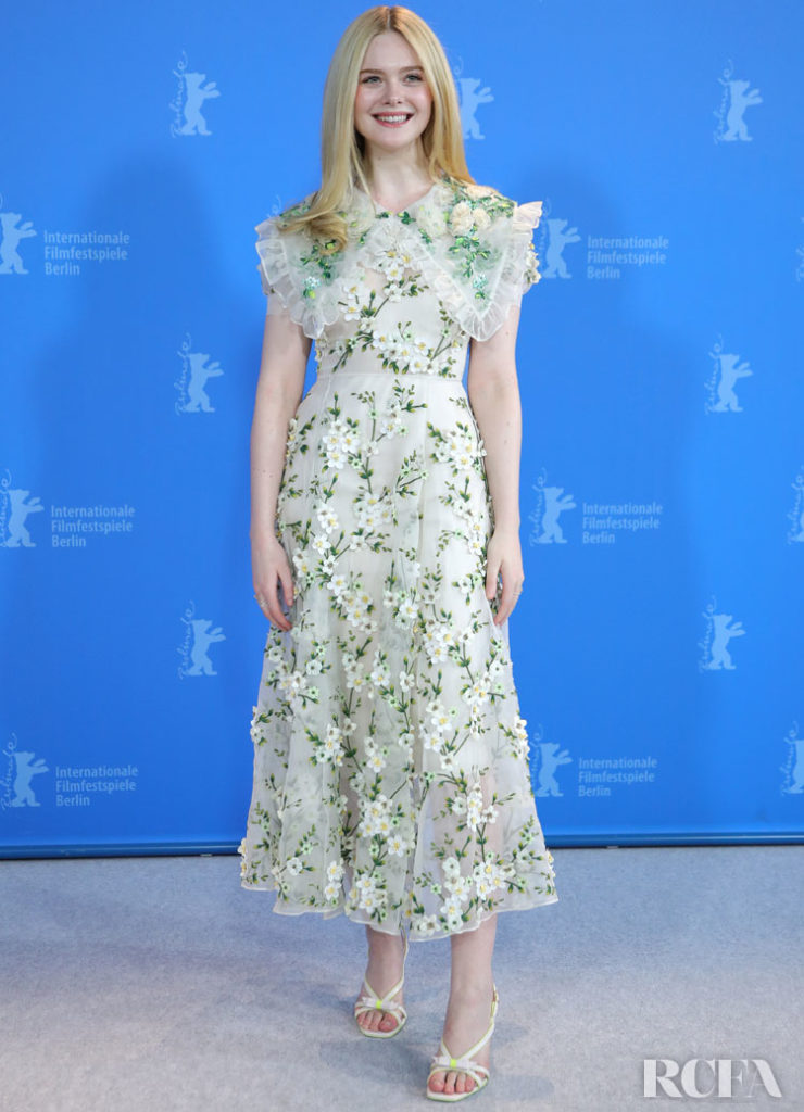 Elle Fanning Wore Rodarte To 'The Roads Not Taken' Berlinale Film Festival Photocall