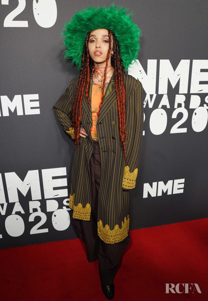 FKA twigs in Vintage Jean Paul Gaultier For The NME Awards 2020