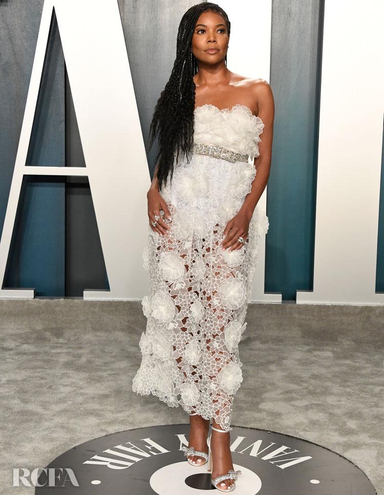 Gabrielle Union In Giambattista Valli Haute Couture - 2020 Vanity Fair Oscar Party