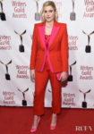Greta Gerwig Wore Alexander McQueen To The 72nd Writers Guild Awards