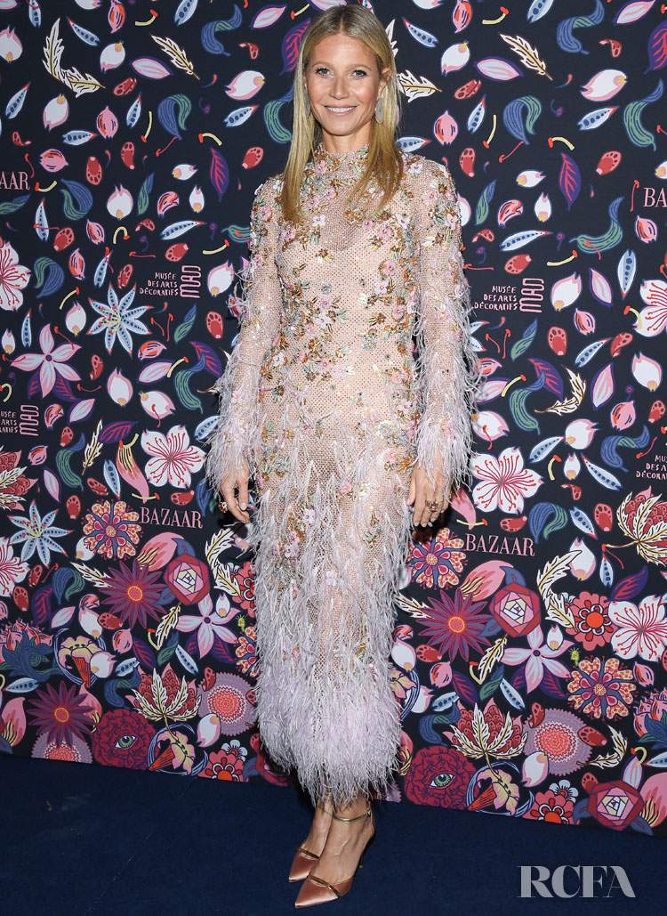 Gwyneth Paltrow Wore Ralph & Russo Couture To The Harper's Bazaar Exhibition