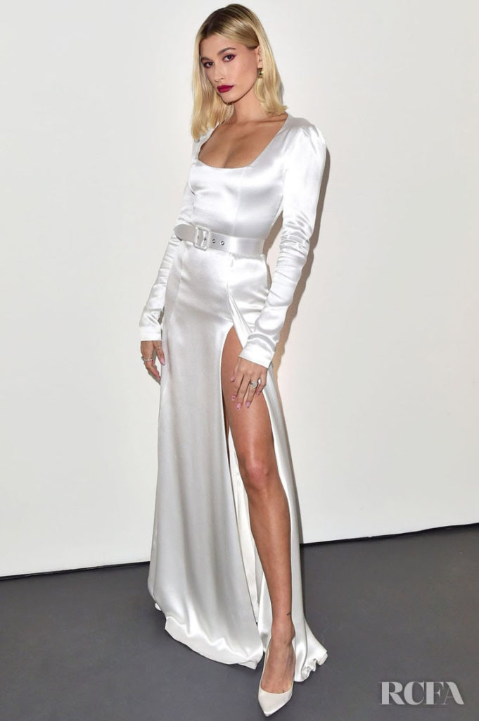 Hailey Bieber Wore Ulyana Sergeenko Couture To bareMinerals 25th Anniversary Party