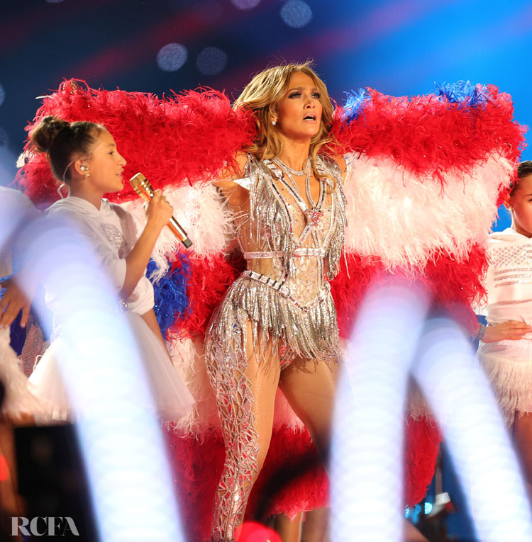 Jennifer Lopez Wore Atelier Versace For Her Super Bowl LIV Performance
