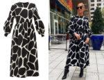 Jennifer Lopez's Valentino Giraffe-Print Dress
