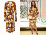 Katie Holmes' Fendi Multi-Colour Print Dress