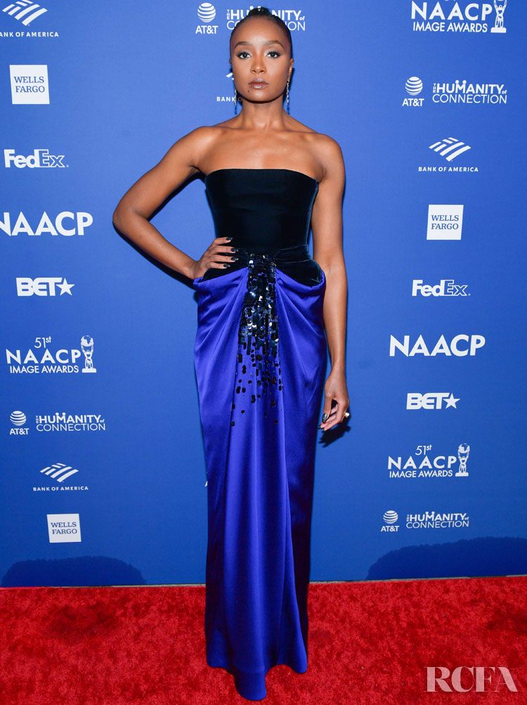 Kiki Layne Wore Armani Prive & Oscar de la Renta To The 2020 NAACP Image Awards