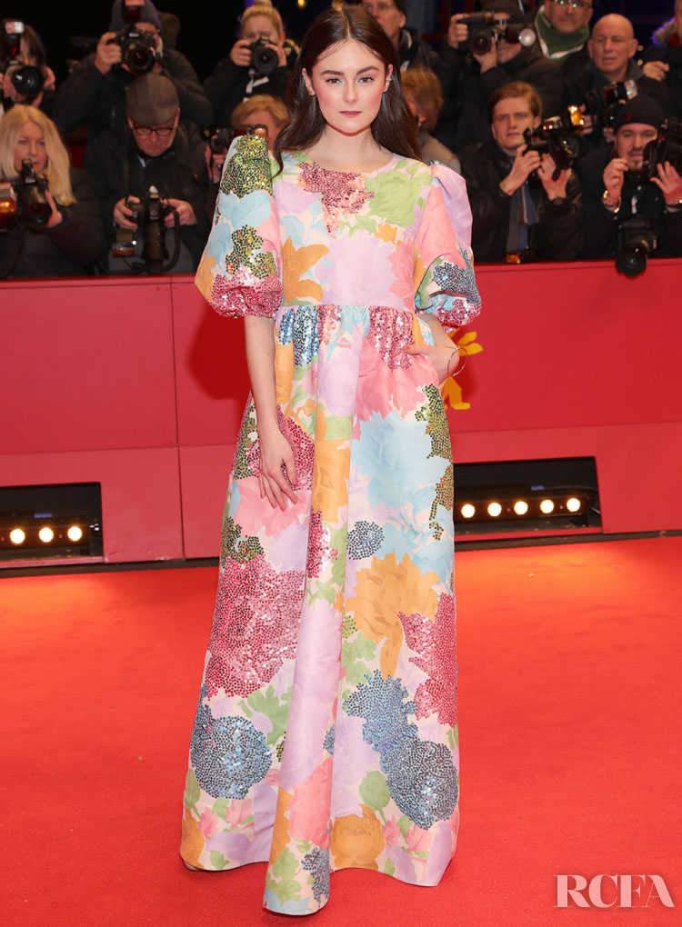 Lea van Acken Wore Stine Goya To The 'My Salinger Year' Berlinale Film Festival Premiere & Opening Ceremony