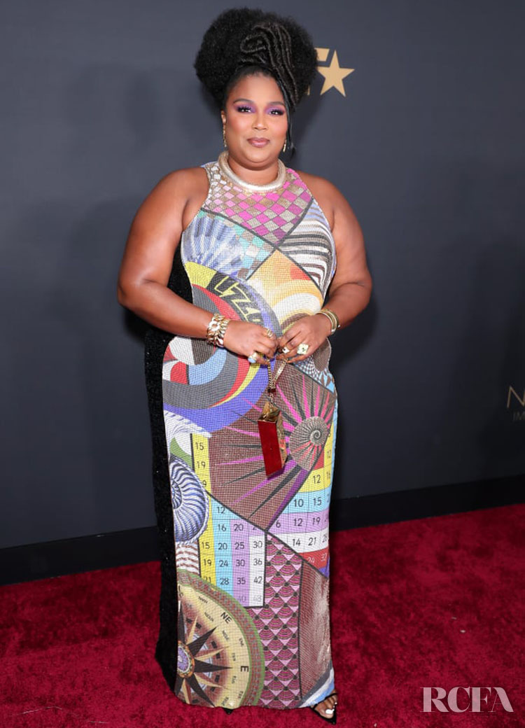 Lizzo Wore Mary Katrantzou To The 2020 NAACP Image Awards