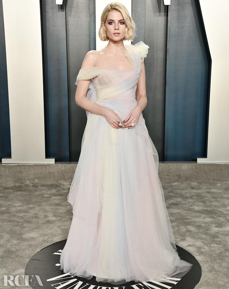 Lucy Boynton in Miu Miu - 2020 Vanity Fair Oscar Party