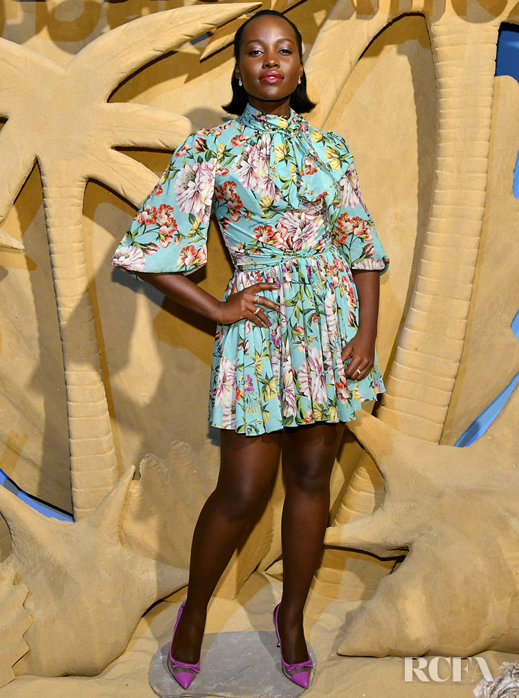 Lupita Nyong'o Wore Dolce & Gabbana To The The Delta SkyMiles® American Express Cards Launch