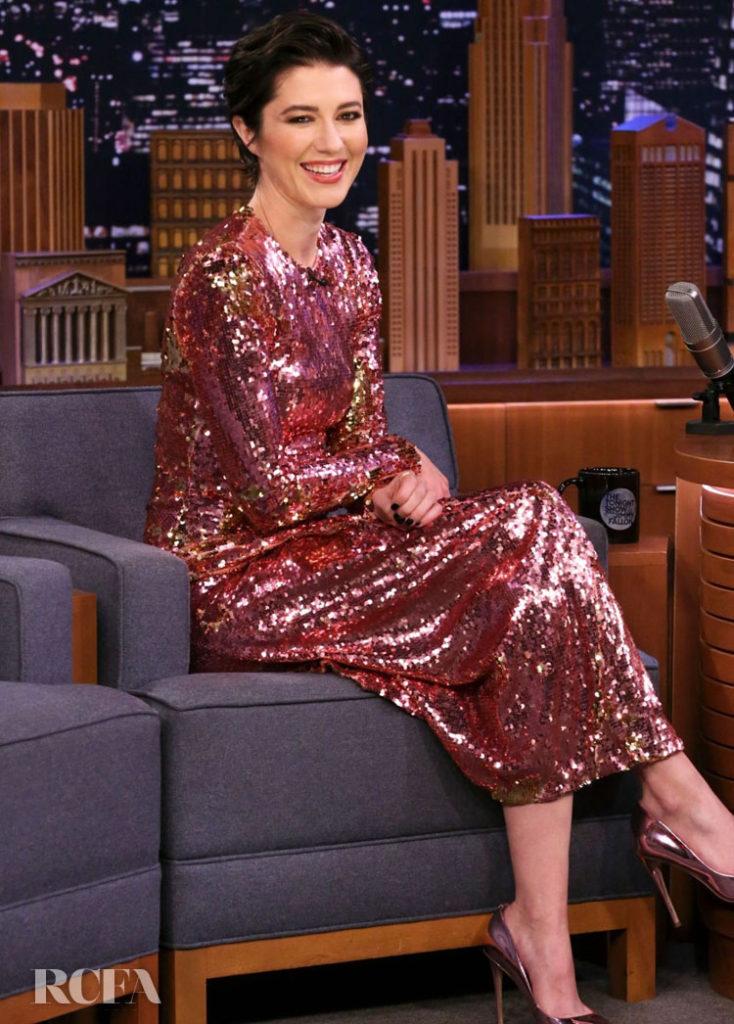 Mary Elizabeth Winstead Wore Preen On The Tonight Show Starring Jimmy Fallon
