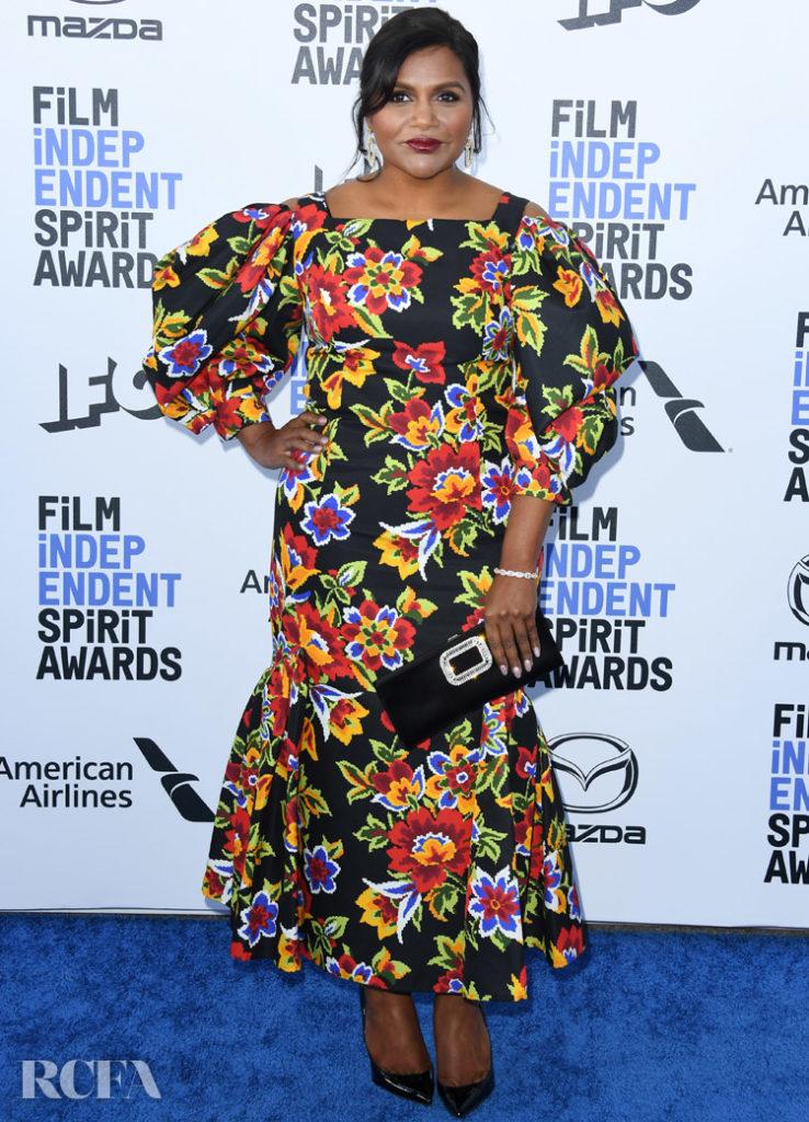 Mindy Kaling In Carolina Herrera - 2020 Film Independent Spirit Awards