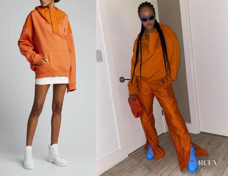 Rihanna's FENTY Oversized Cotton Half-Zip Hoodie