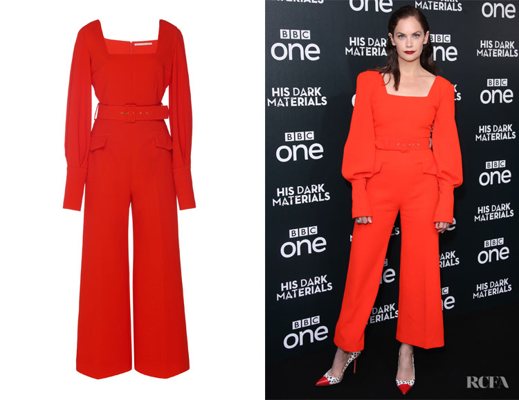 Ruth Wilson's Emilia Wickstead Patrice Belted Jumpsuit