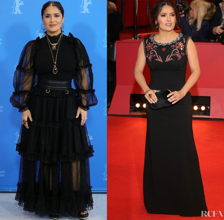 Salma Hayek Attends 'The Roads Not Taken' Berlinale Film Festival Photocall & Premiere