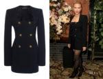 Scarlett Johansson's Versace Double Breasted Mini Dress