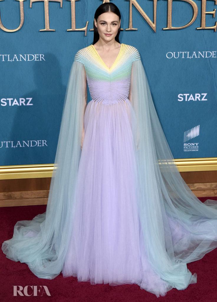 Sophie Skelton Wore Georges Hobeika Couture To The 'Outlander' Season 5 Premiere