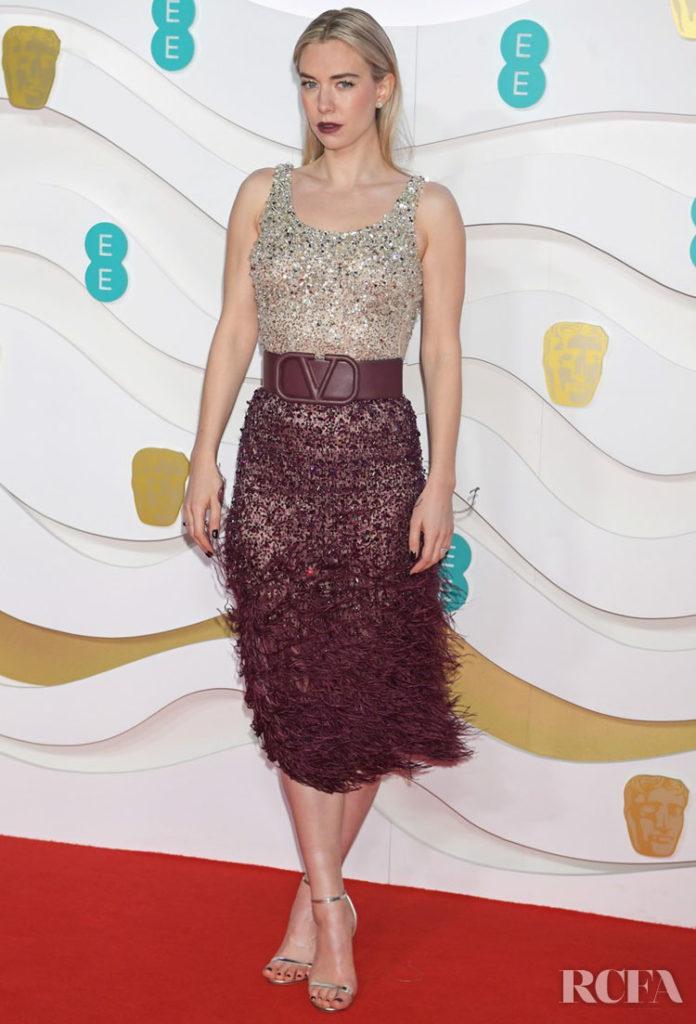 Vanessa Kirby In Valentino - 2020 BAFTAs