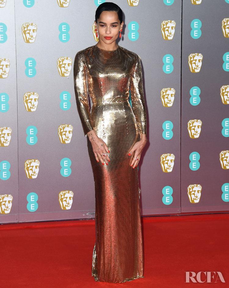 Zoe Kravitz In Saint Laurent by Anthony Vaccarello - 2020 BAFTAs