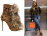 Cardi B's Dsquared2 RiRi 120MM Embellished Suede Boots
