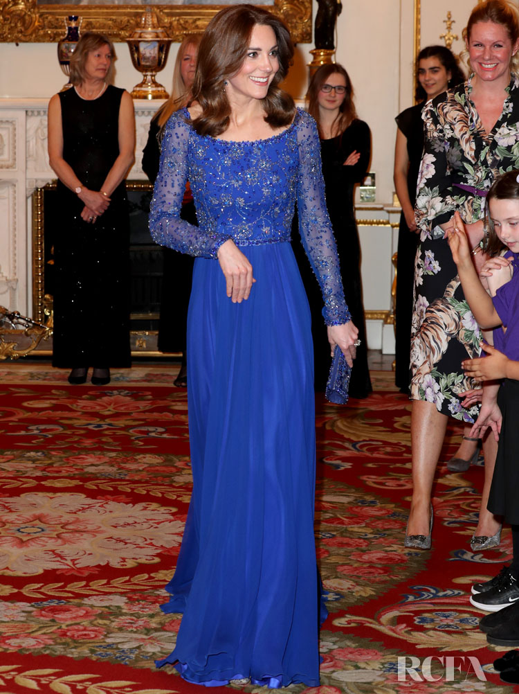 Catherine, Duchess of Cambridge Wore Jenny Packham To The Gala Dinner For The 25th Anniversary Of Place2Be